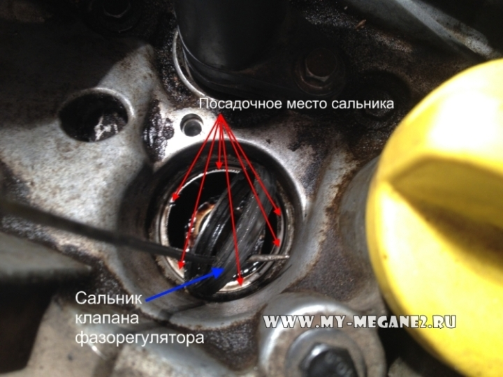 сальник клапана фазорегулятора Рено Меган 2