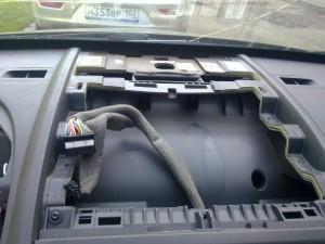Центральная часть панели приборов Renault megane 2