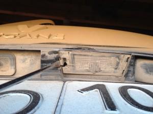 плафон освещения номерного знака Рено Меган 2