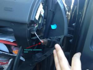 Разъем отключения пассажирской AirBag Рено Меган 2