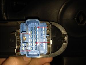 Лампа подсветки блока управления стеклоподъемниками Renault Megane 2