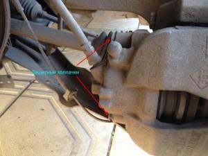 Замена передних тормозных колодок Рено Меган 2