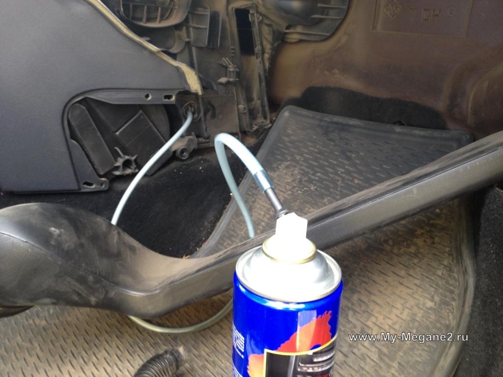 Чистка кондиционера в машине своими руками рено логан 71