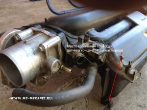 Снятие ресивера впускного коллектора на Renault Megane 2