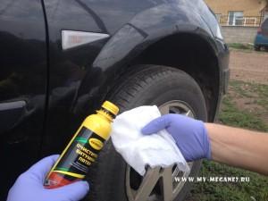 Очистка кузова от битумных пятен на Renault Megane 2