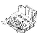 Снимаем кронштейн (площадку) АКБ на Рено Меган 2