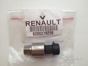 Замена датчика давления хладагента (фреона) на Рено Меган 2