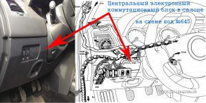Блок управления электрооборудованием на Рено Меган 2