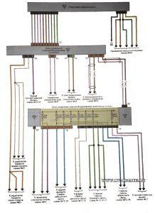 Схема электрической цепи подрулевого переключателя Рено Меган 2