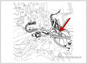 Расположение стартера на автомобиле Рено Меган 2