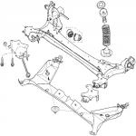 Задняя подвеска Рено Меган 2